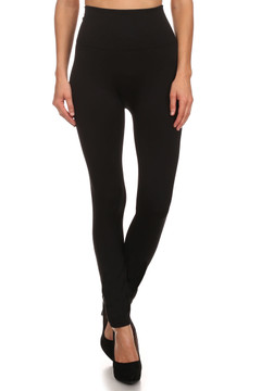 Banded High Waisted Fleece Lined Leggings - Sizes 4 - 10