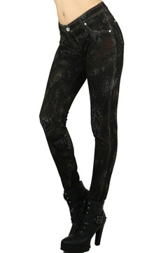 Empress Snakeskin Cotton Jeggings