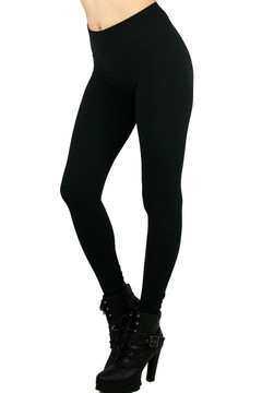 Black Brushed Milk Silk Leggings