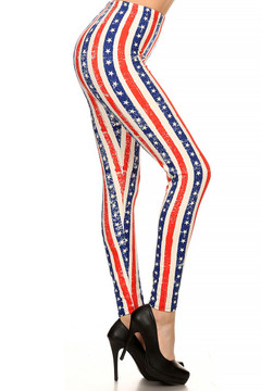 Vertical Stars and Stripes Leggings
