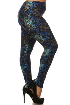 Twisted Swirl Leggings - Plus Size