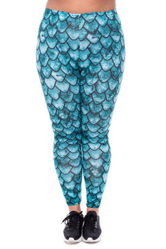 Green Scale Leggings - Plus Size