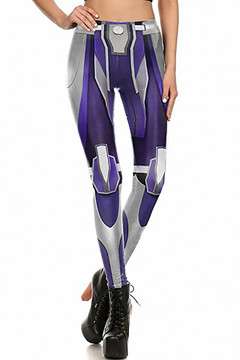 Indigo Chrome Plated Leggings