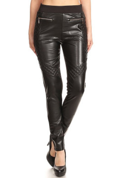 Nemesis Fleece Lined Faux Leather Leggings