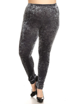 Crushed Velvet Leggings - Plus Size
