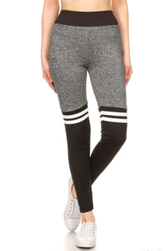 Charcoal Black Split Women's Workout Leggings