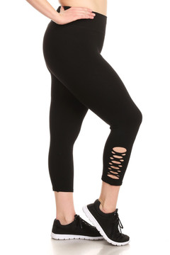 Symmetry Slashed Workout Capri - Plus Size
