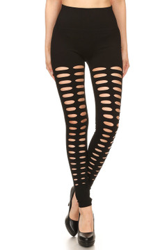 Duo Front Slashed Sport Leggings