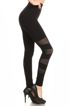 Multi Patch Mesh Sport Leggings