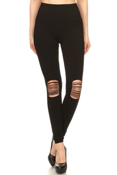 Knee Slashed Sport Leggings