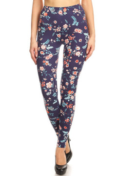 Brushed Indigo Garden Leggings