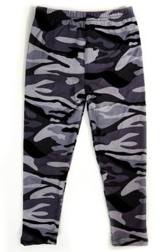 Monochrome Camouflage Kids Leggings