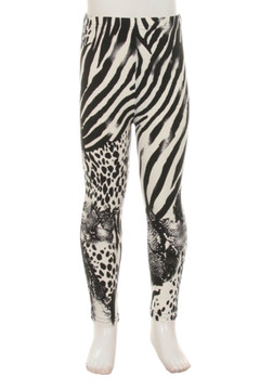 Wholesale Buttery Soft Safari Tiger Kids Leggings
