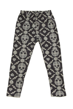 Skull Mandala Kids Leggings