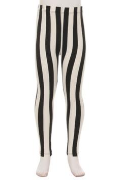 Vertical Wide Stripe Kids Leggings
