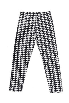 Black and White Houndstooth Kids Leggings