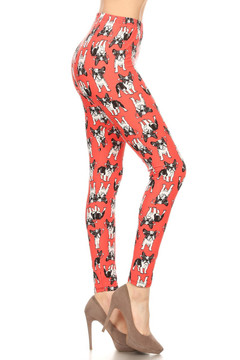 Hip and Cool Bulldog Plus Size Leggings