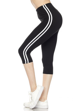 Sport Stripe Basic Capris