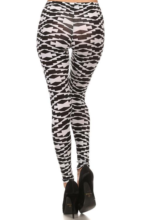 black and white navajo leggings onlyleggingscom