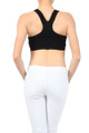 Ruched Racer Back Sports Bra