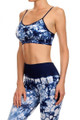 Navy Groovy Tie Dye Sports Bra
