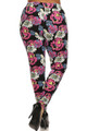 Pop Art Peony Harem Plus Size Leggings