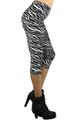 Sexy Zebra Capri Leggings