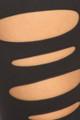 Front Slashed Black Leggings Fabric