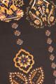 Gold Intricate Frond Bell Bottom Leggings