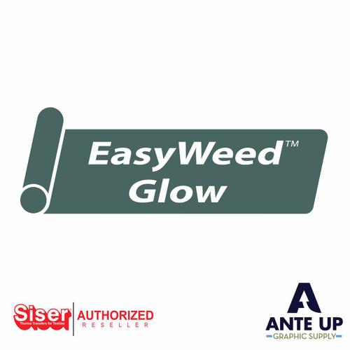 "Siser EasyWeed Glow in the Dark Heat Transfer Vinyl (HTV) 12"" x 15"" sheet"