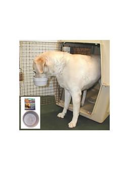 Pet cargo crate bowl