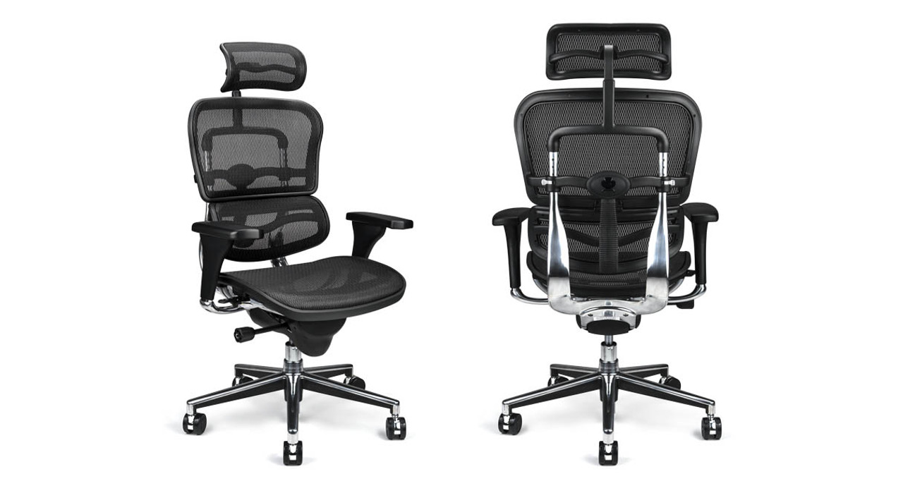 The Ergohuman Chairu0027s cylinder raises and lowers chair pneumatically  sc 1 st  The Human Solution & Raynor Ergohuman Chair ME7ERG - Mesh with Headrest
