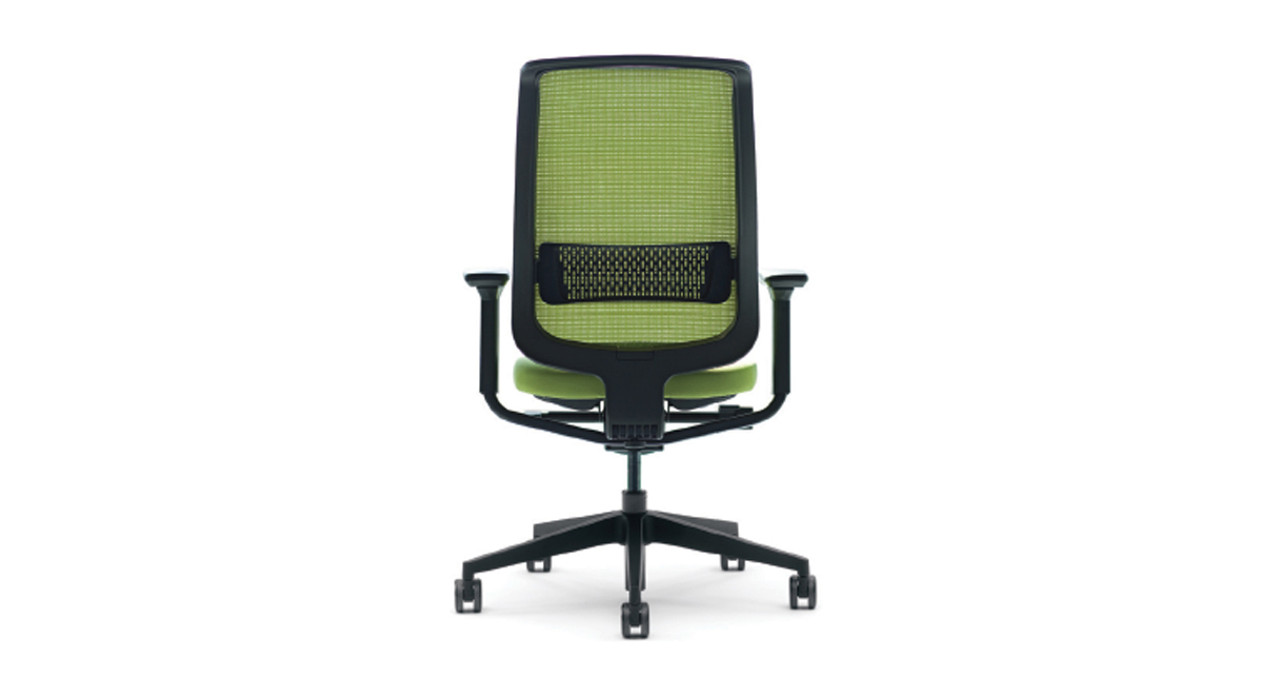 The Steelcase Reply Mesh Task Chair Offers Easy Handle Access For Adjustability