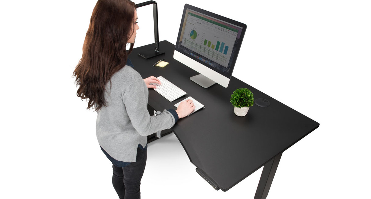 Eco Curve Stand Up Desk by UPLIFT Desk | Human Solution