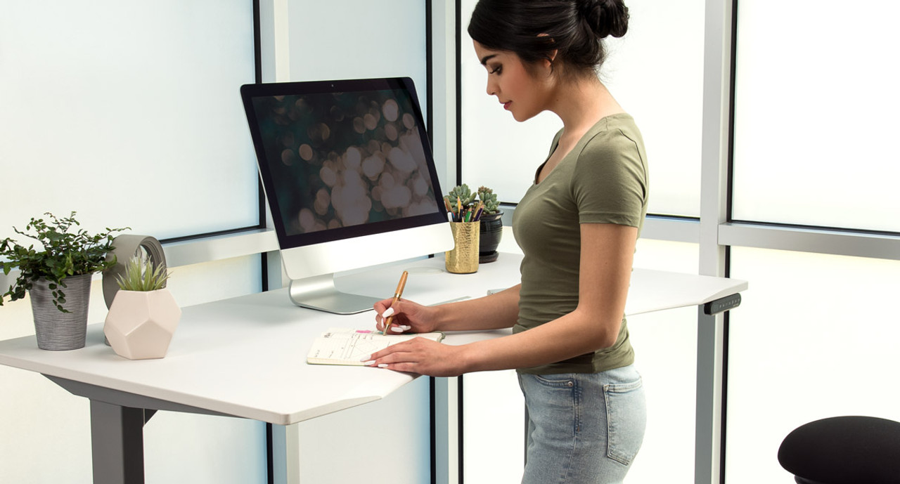 thumb desks standing elevate learn programmable a desk your will video to raising bdi by how workday lift about watch more keypad