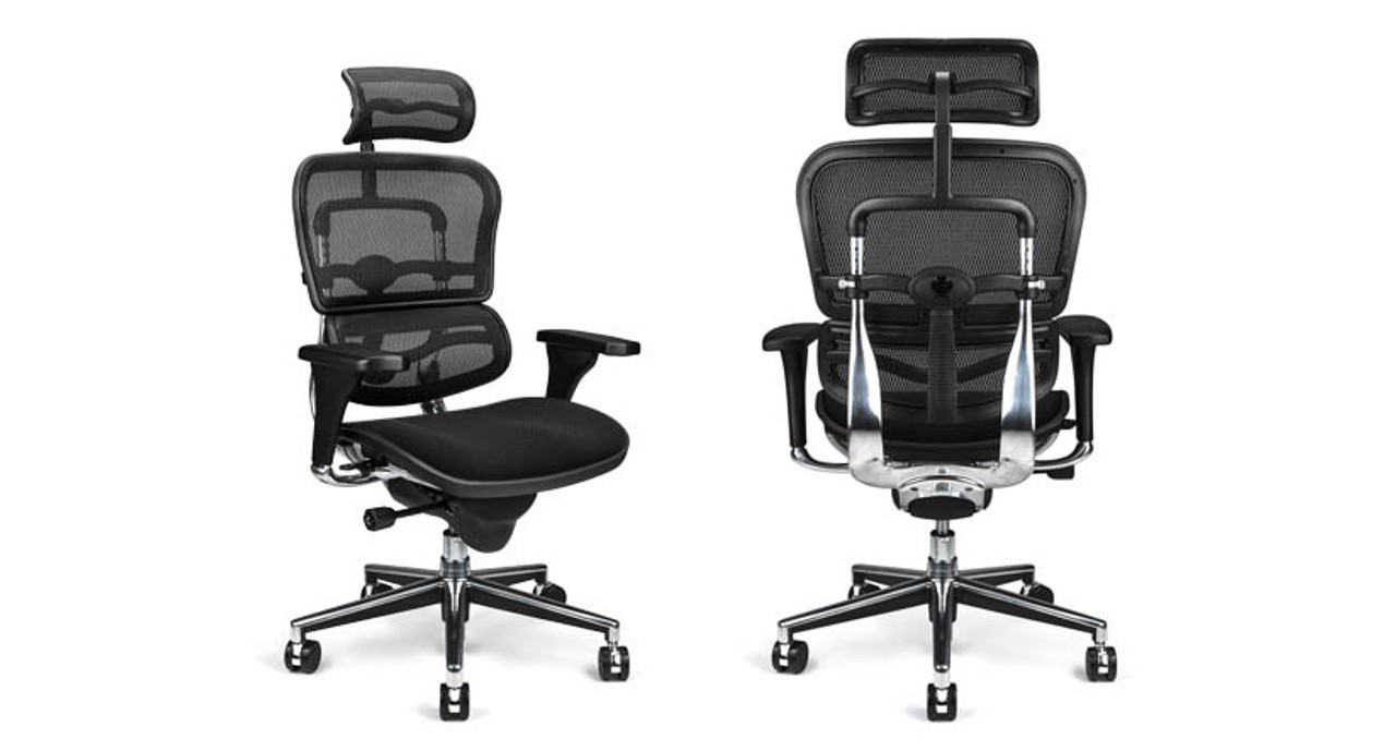 ... Chair with Fabric Seat and Headrest · Featuring height tilt and depth adjustment features to keep you comfy  sc 1 st  The Human Solution & Raynor Ergohuman Mesh Chair with Fabric Seat and Headrest CU4ERG ...