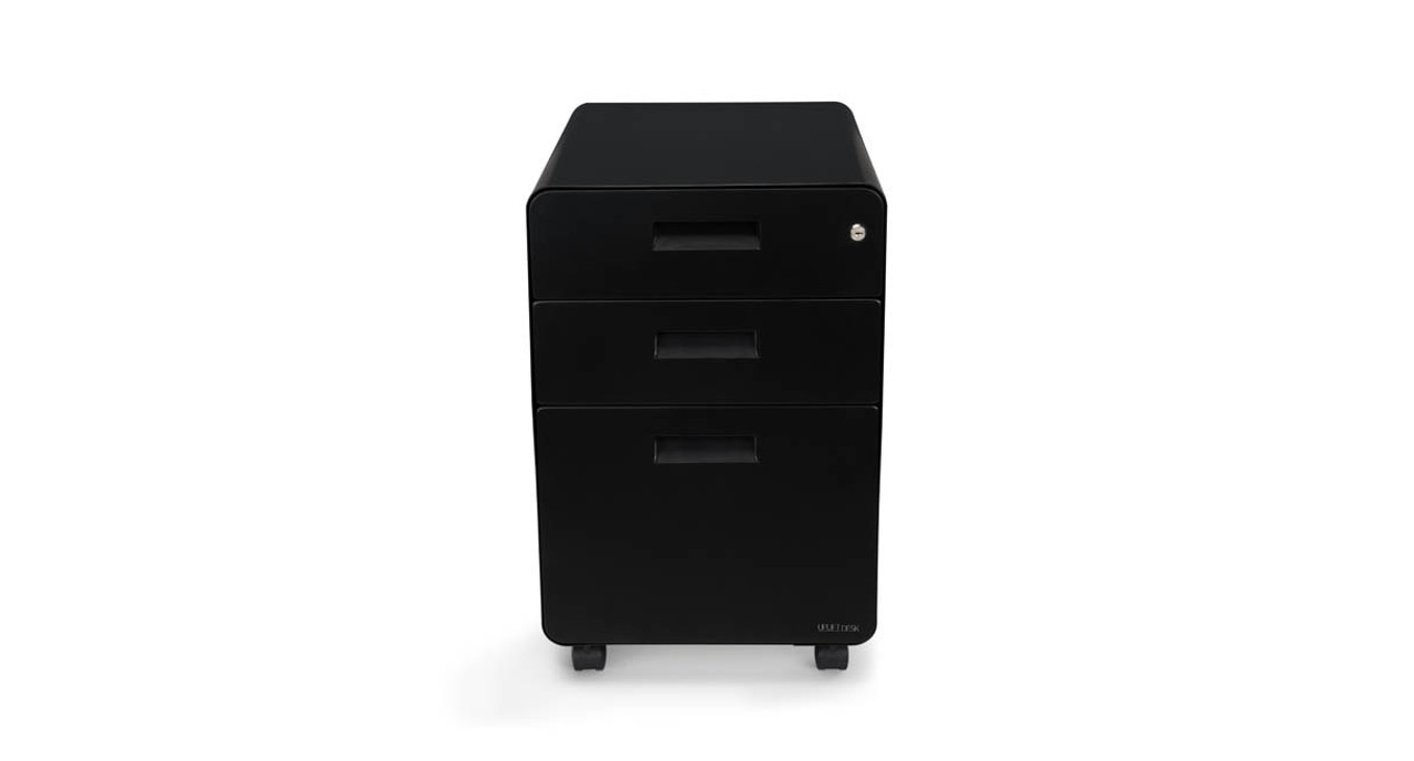 Enjoy Secure Storage With The 3 Drawer Rolling File Cabinet By UPLIFT Desk