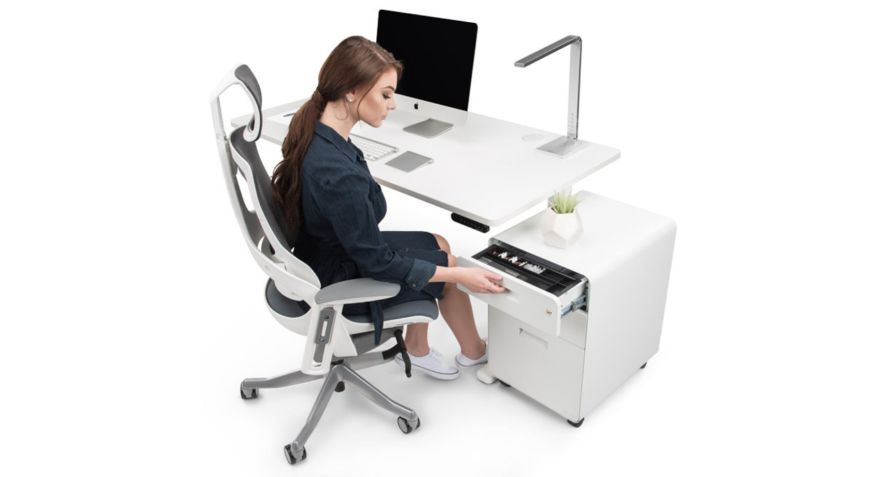 3 Drawer File Cabinet By UPLIFT Desk