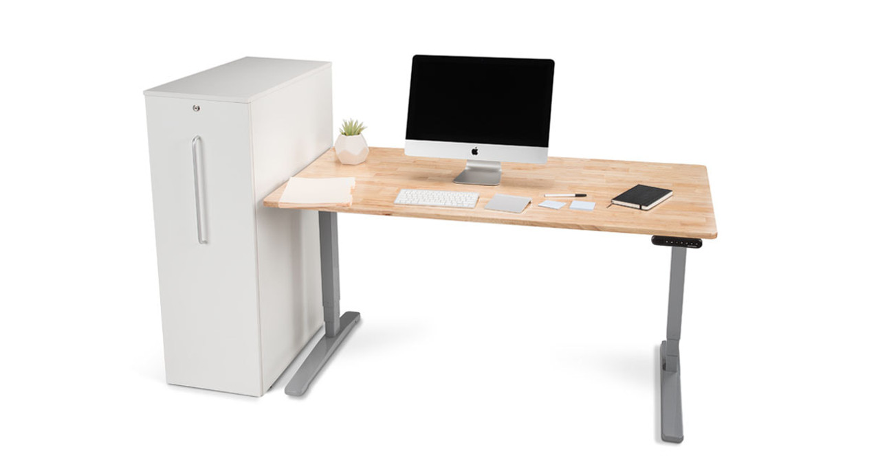 Place Your Cabinet On Either Side Of Your Workstation (Left Of Desk Option  Shown Here · The Slide Out ...