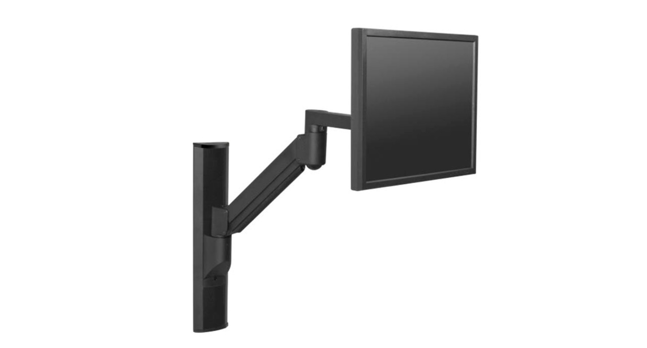 Dynamic Monitor Arm Allows For Fingertip Adjustable Movement Of Monitors