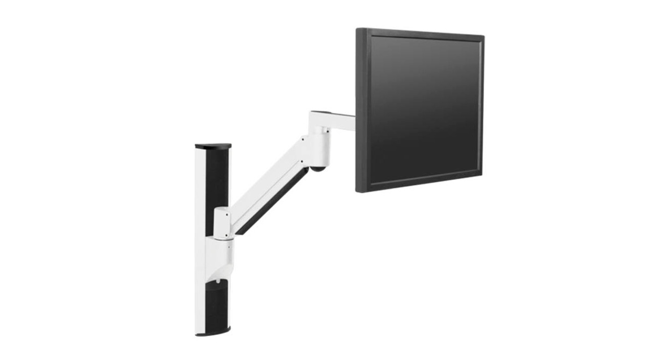 Data Entry Arm Option Combines Adjustable Monitor Mount With Foldable  Keyboard Platform On A Single Arm