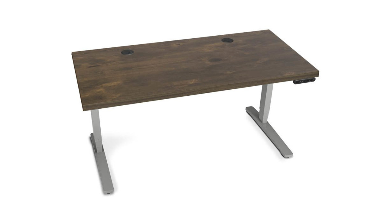 The UPLIFT Standing Desk With Solid Wood Top Is A Stunning And Rustic Way  To Transform