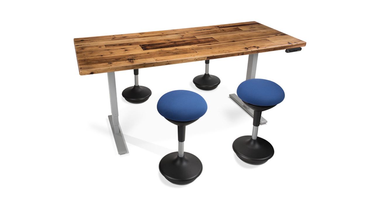 Shop UPLIFT Woodland Standing Conference Tables - Standing height conference table