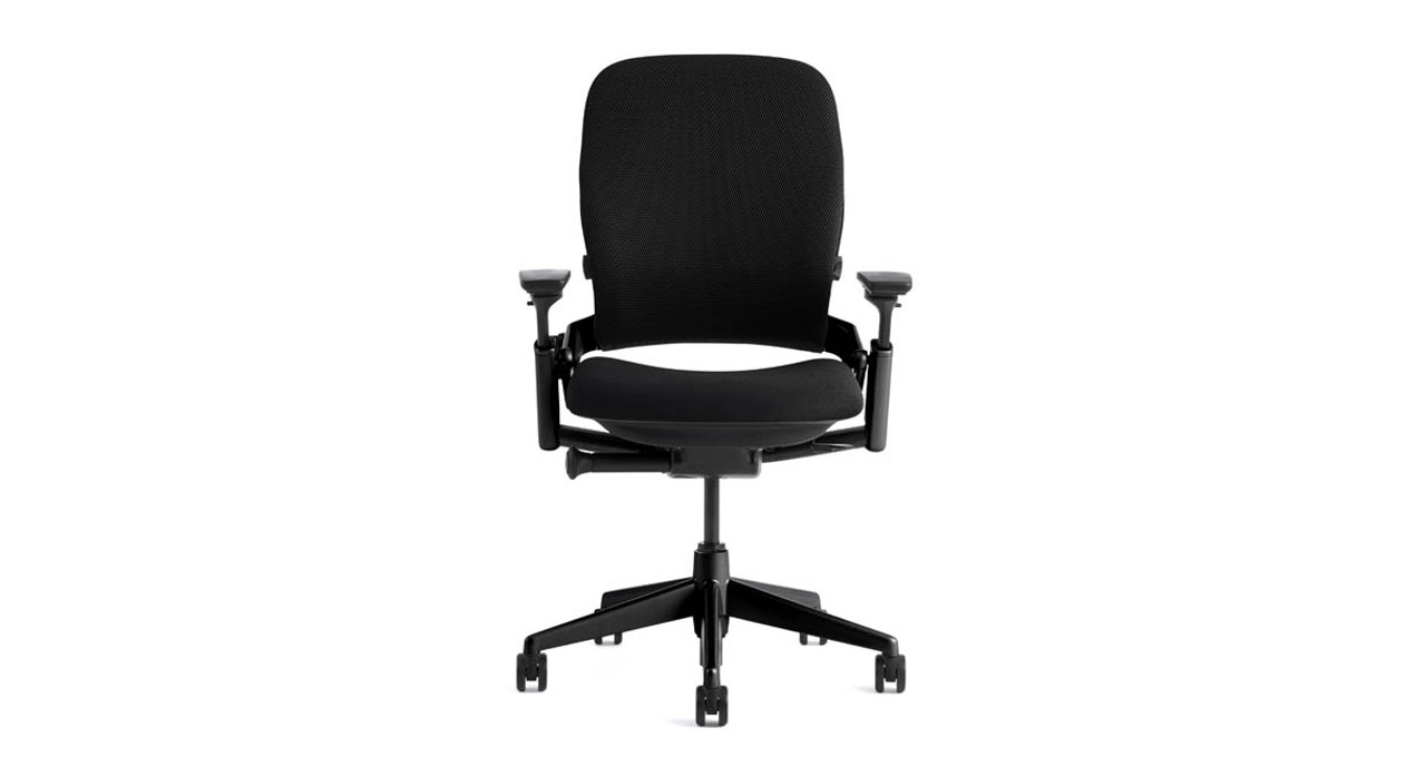Steelcase Leap Ergonomic Office Chair | Shop Solution on chair cushion for office, chair with adjustable lumbar support, chair back support products, best ergonomic chair lumbar support for office,
