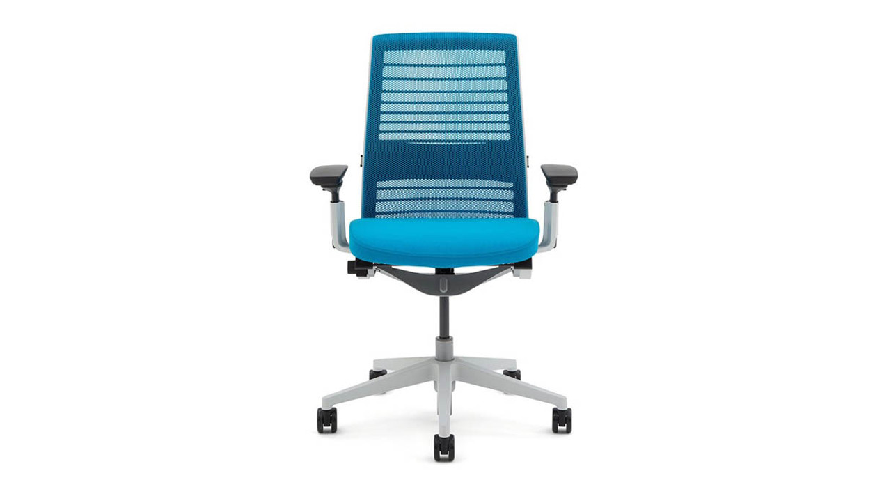 connected flexors in the seat and back create a dynamic support that adjusts your body - Steelcase Office Chairs