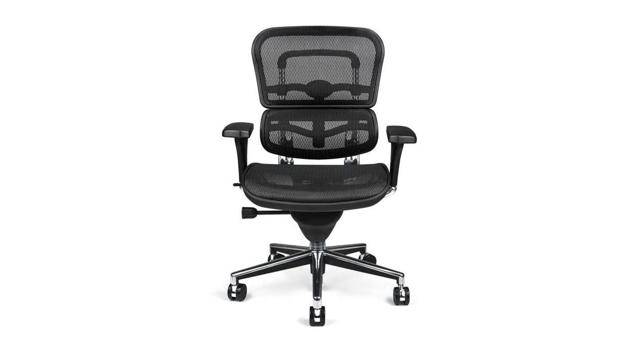The Raynor Ergohuman Mesh Chair S Pneumatic Cylinder Smoothly Raises And Lowers