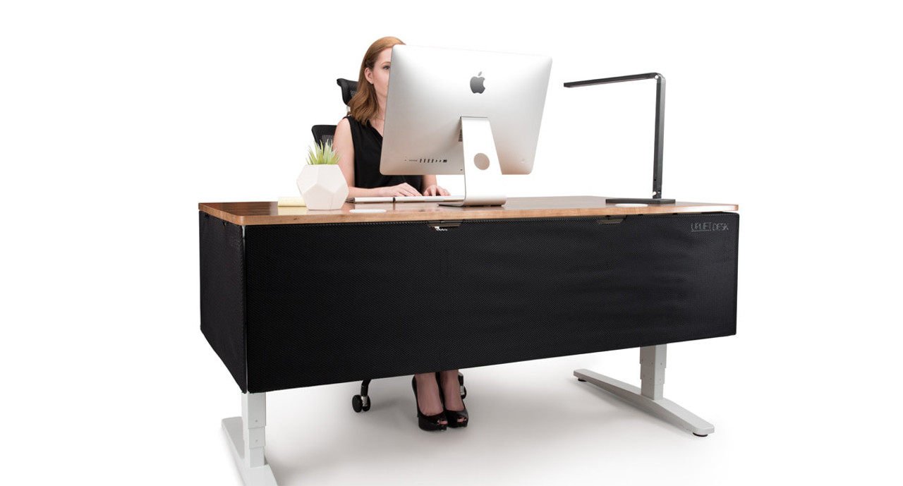 office desk cable management. Modesty Panels Can Mount To Both The Sides And Back Of Your Desk Office Cable Management