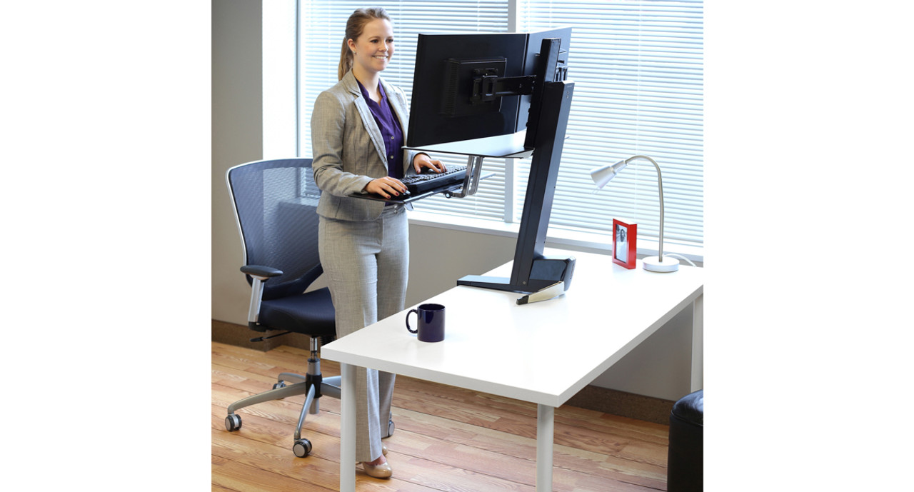 Shop Ergotron Workfit S Sit Stand Workstation