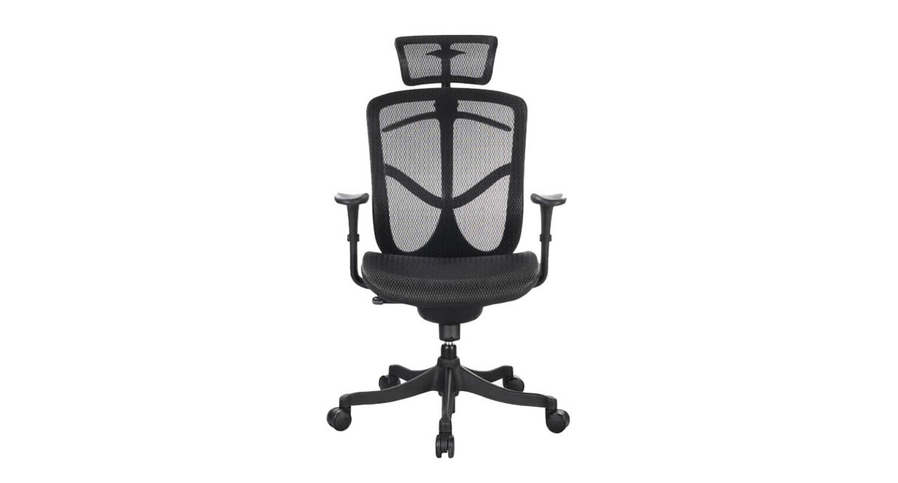 Contoured Mesh Seat Sports A Waterfall Design For Added Comfort