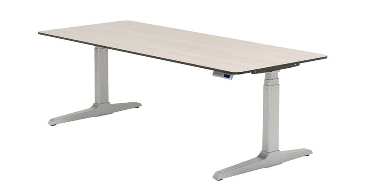 shop desks synched are adjustable series up desk lifting duty for smooth to lbs steelcase height of heavy columns electric